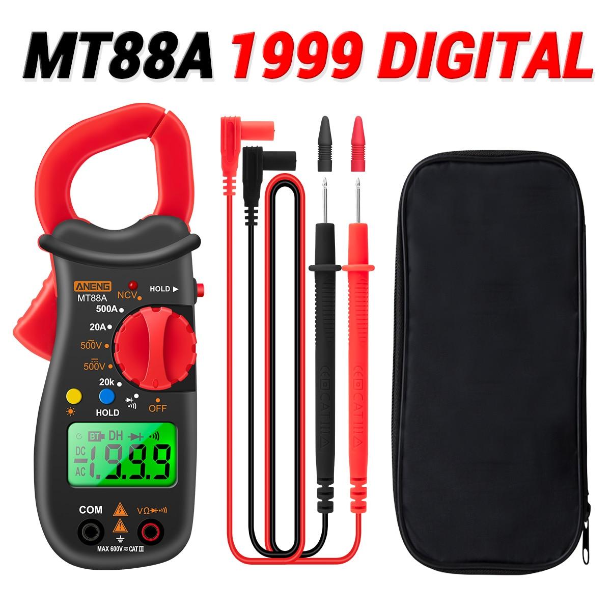 Objective Aneng Mt88a Clamp Meter Multimeter Lcd Digital Universal Meter 1999 Counts Auto Range Handheld Dc/ac Voltage Voltmeter