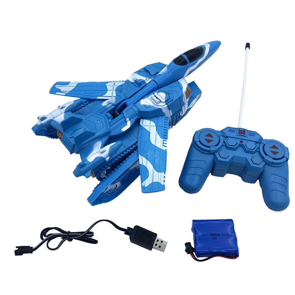 RC Deformation Tank Fighter 5 Channel with Light Sound Electric Intelligent Military Model Remote Control Toys