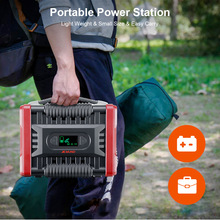 Portable Power Station Solar 110V 220V 300W Generator Nood Energie Supply QC3.0 Power Bank Batterij Oplader voor Outdoor