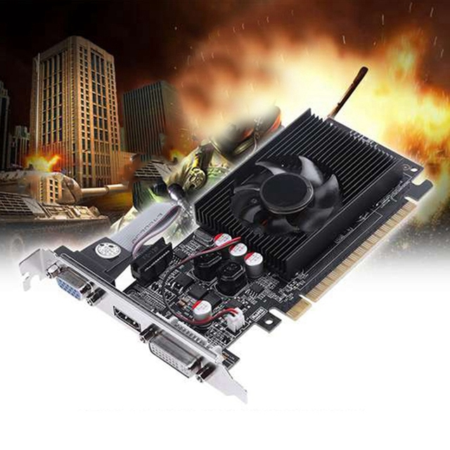 GT730 2G Graphics Card 64-Bit D3 Game Video Card Server Half-Height Graphics Card for Geforce Dvi VGA Video Card 6