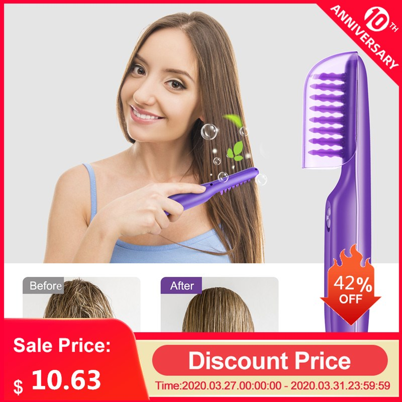 Electric Hair Styling Brush Hair Comb Detangling Scalp Massage Comb Women Tangle Hairdressing Salon Straight Curly Styling Tools