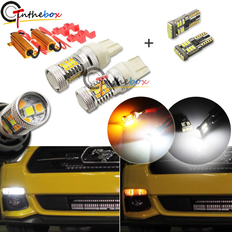 GTinthebox Switchback 31-SMD LED clignotants feux de jour et Kits d'ampoules de stationnement pour Ford Mustang 2015-up