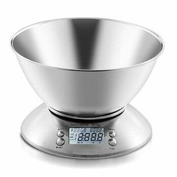 Timbangan Dapur Digital 5 kg dengan Mangkok Stainless Steel 1