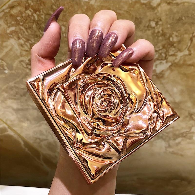 Glitter Highlighter Facial Bronzer Palette Makeup Face Contour Shimmer Powder Illuminator Highlight Cosmetic Concealer