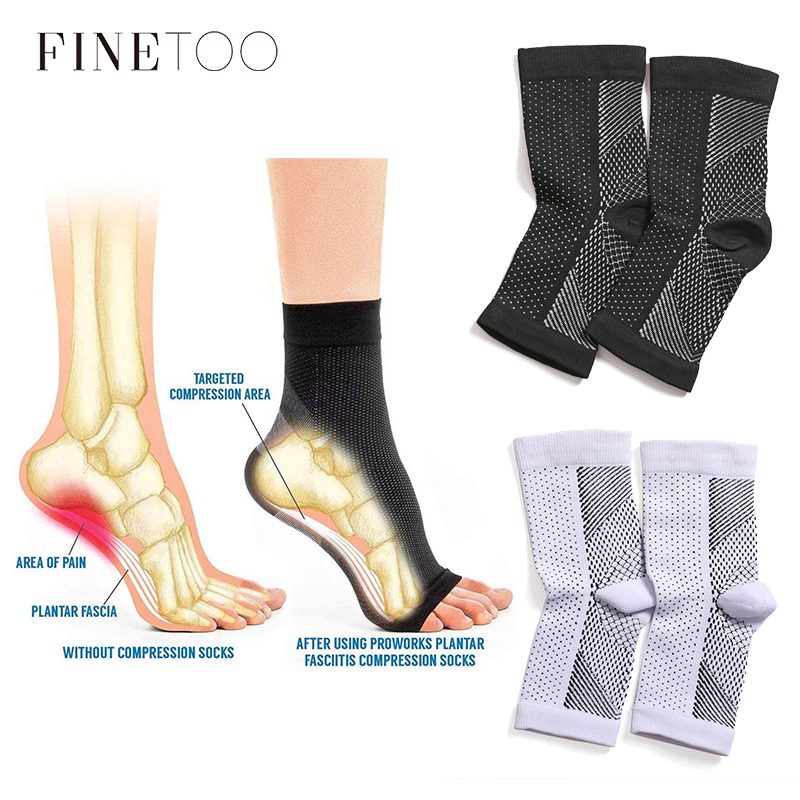 Breatheable Foot Sleeve Socks Men 1 Pair Foot Angel Anti Fatigue Outerdoor Women Socks Compression Brace Sock Sport Socks S-XL