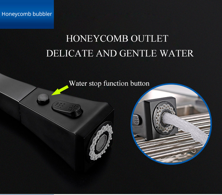 Hd2a3a9638d2d446282ade1d69de4e17f4 Black Kitchen Faucet Pull Out Kitchen Tap Single Hole Handle Swivel 360 Degree Hot Cold Water Mixer Tap Kitchen Water Tap Faucet