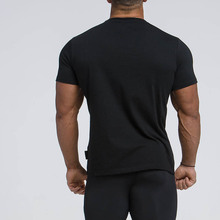 Summer High Quality Fitness Slim Stretch Short-Sleeved Men's Sports Quick-Drying T-Shirt New Fashion Trendy Men's Clothing