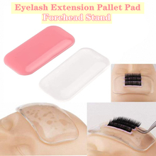 Eyelash Pallet For Extension Forehead Pad Lash Stand Super Sticky Anti-Static Silica Gel Tray Holder Grafting Tool