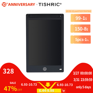 """TISHRIC 8.5/10/12"""" inch Kids Color Screen Digital Graphic Tablet ICD Drawing Board Writing Pad Stylus Pen Erasable for Education(China)"""