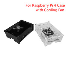 For Raspberry Pi 4 Case Box Case Shell Enclosure With Cooling Fan  Housing Protecting Cover For Raspberry Pi 4 Model B цены