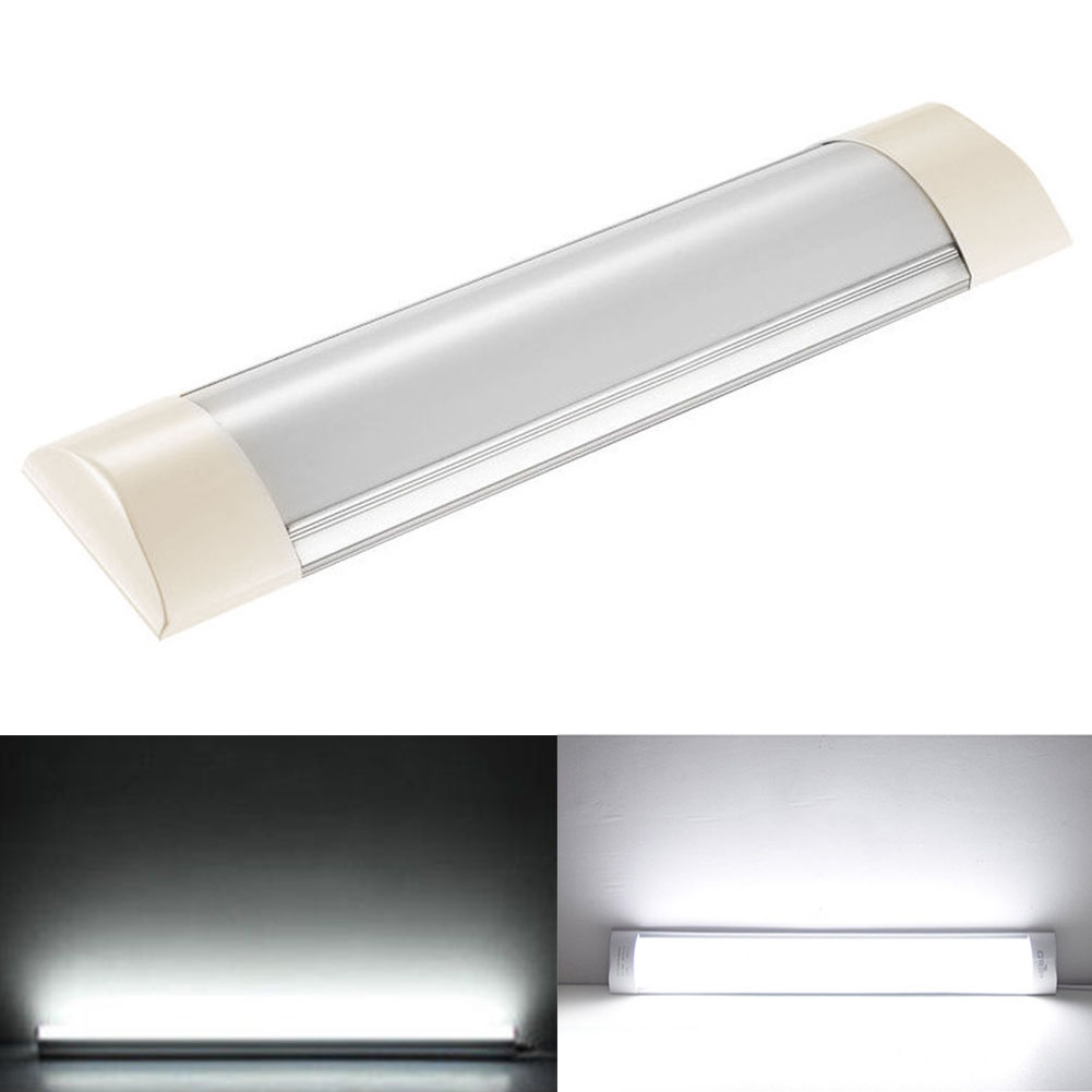 10W Workshop Chandelier Lamp Tube Office For Wardrobe Garage Batten Light 1FT Wall Led Integrated With Dust Cover