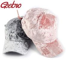 Visor Snapbacks Baseball-Cap Velvet Geebro Hat Hip-Hop-Cap Fashion Cotton Women Casual