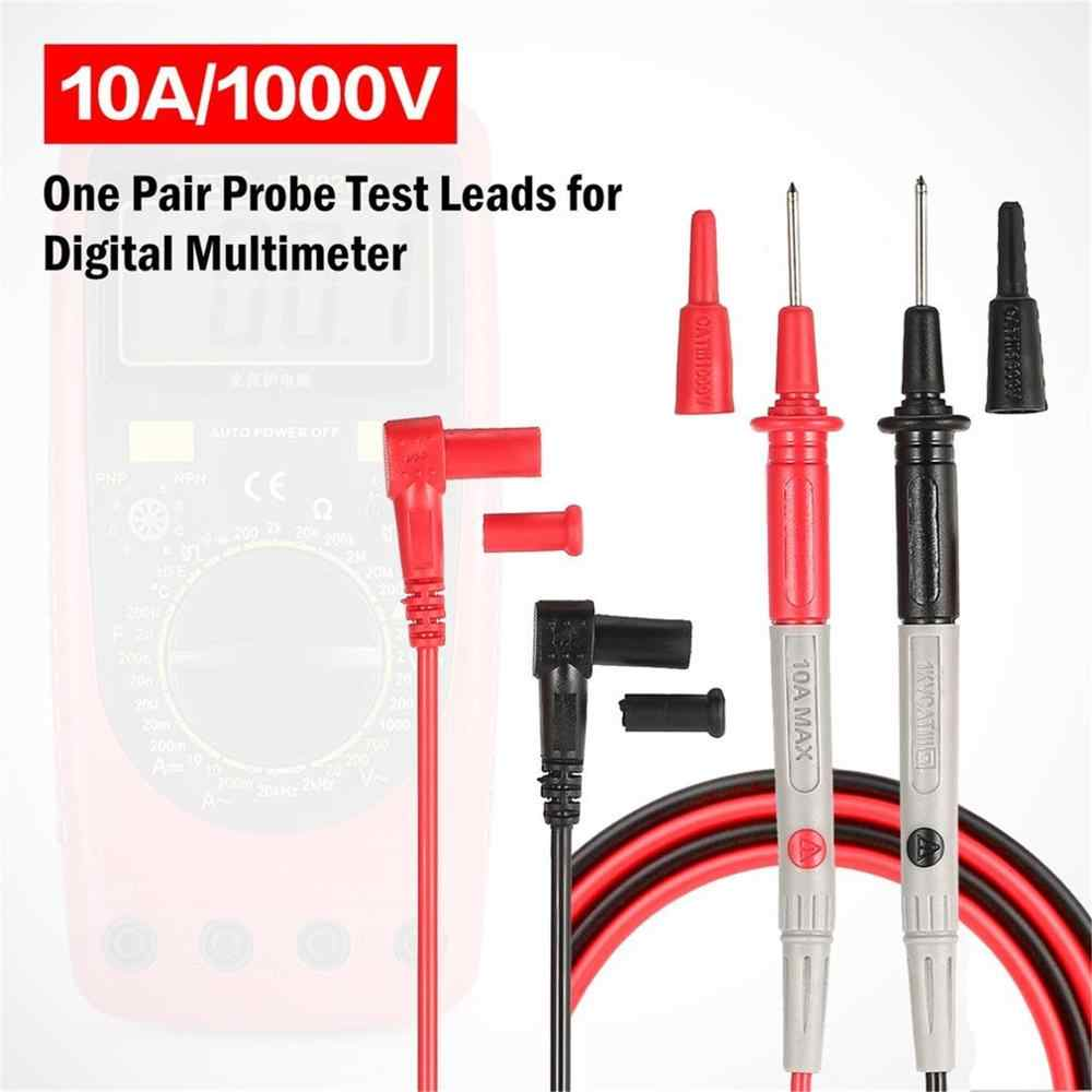 Multímetro Digital sonda universal cables de prueba Pin aguja punta multímetro probador Cable pluma de prueba 10A/1000V CATⅢ 1 par