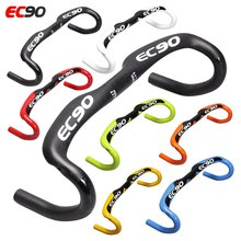 2019 EC90 marka yeni tam karbon Fiber yol bisikleti gidon yarış Bend bisiklet kolu 31.8*400 420 440MM 7 çok renkli