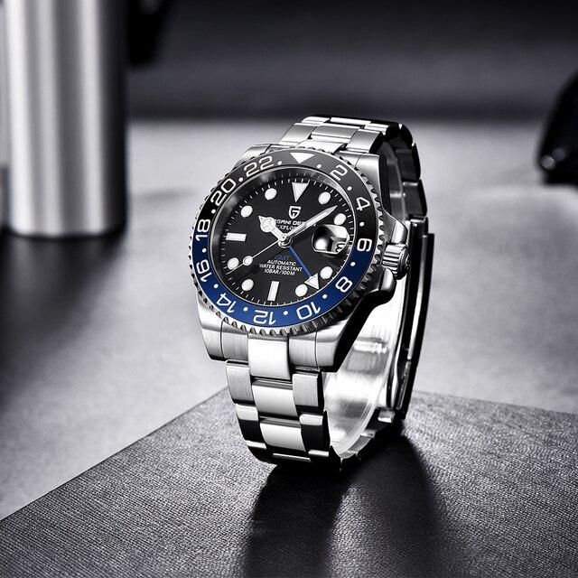 PAGANI DESIGN 2021 Luxury Men Mechanical Wristwatch Stainless Steel 5
