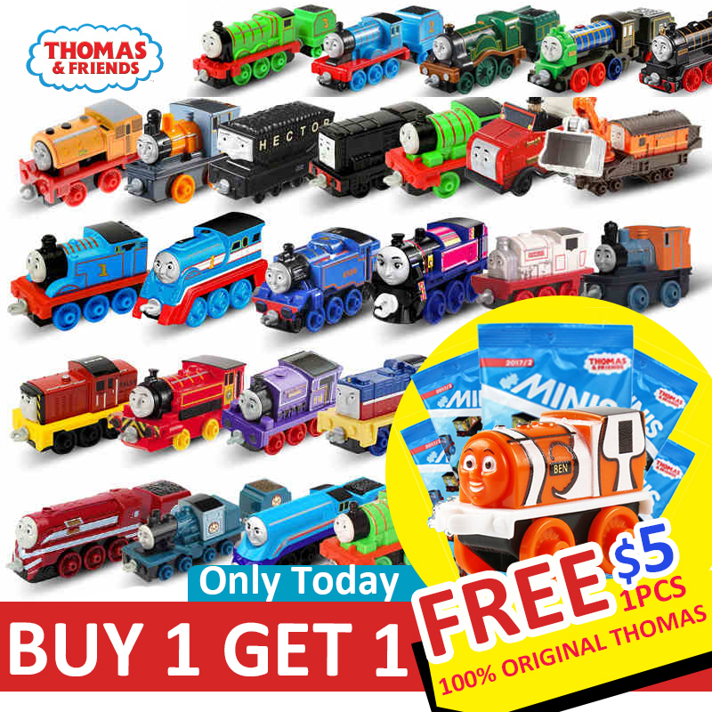 Купить с кэшбэком Original Thomas and Friend Strackmaster 1:43 Train model car Kids Toys For Children Diecast Brinquedos Education Birthday Gift