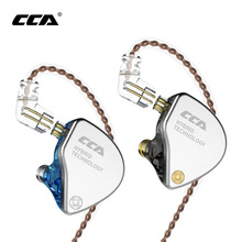 цена на CCA CA4 In 1DD+1BA Ear Earphones Monitor Headphones Metal Hybrid Technology Earbuds Sport Noise Cancelling Bluetooth Cable