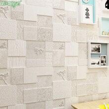 Self-adhesive waterproof decorative textured 3d foam wall sticker thicken anti-collision house decoration