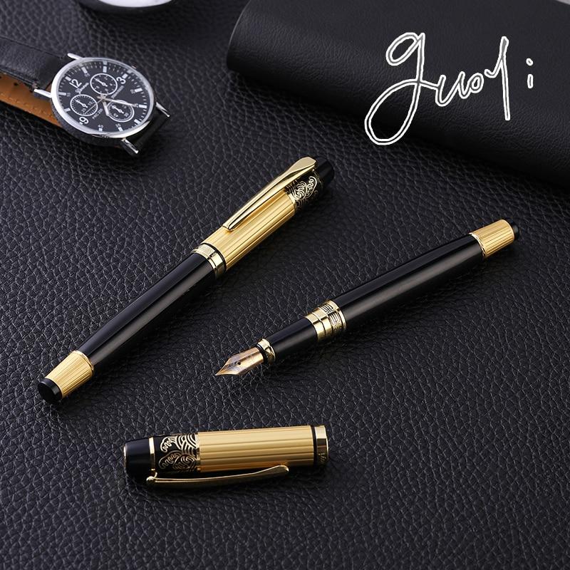 Guoyi K901 kovové gravírování inkoustové pero 0,5mm učení kancelářské potřeby školní papírnictví dárek luxusní pero hotel obchodní psaní pero