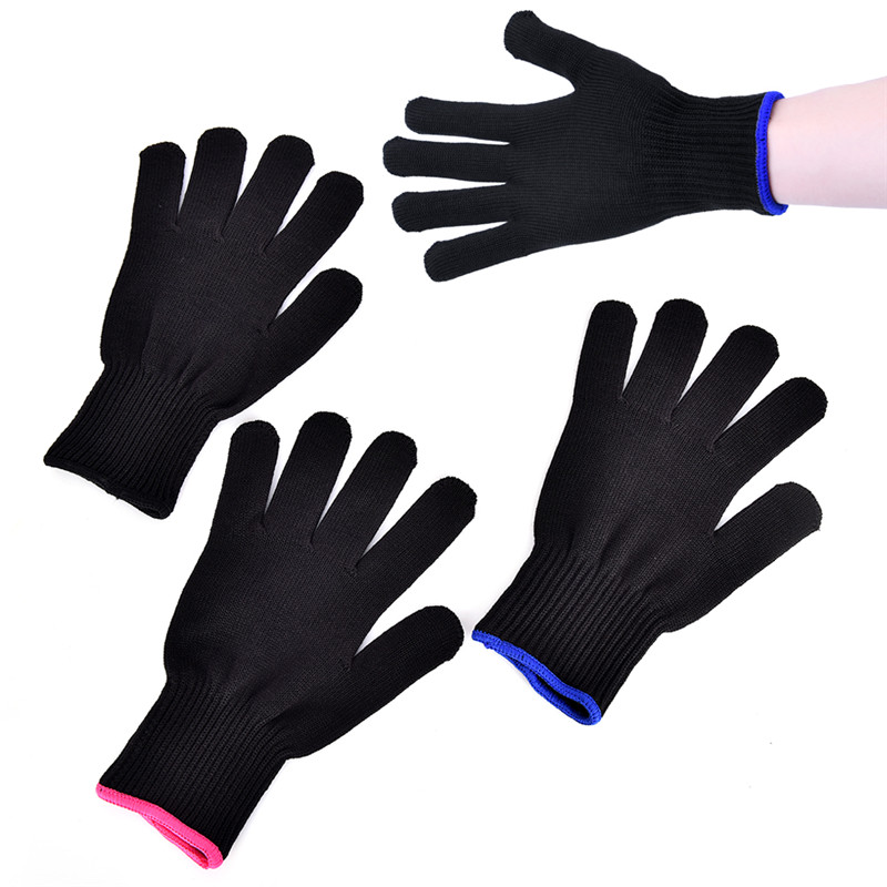1pc Heat Resistant Glove Professional Hair Styling Tool For Curling Straight Flat Iron Black Heat Glove For Curling Iron