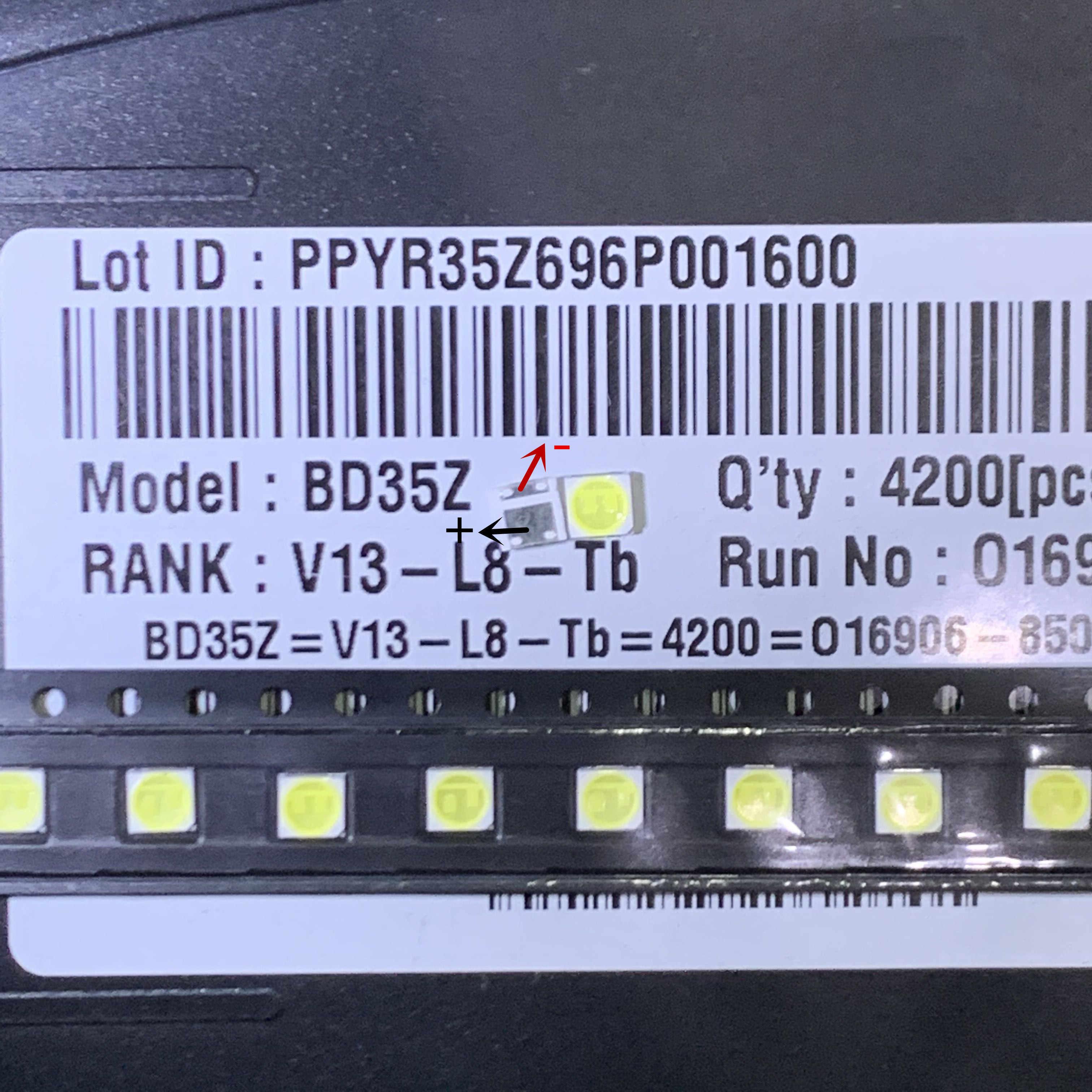 Quinta generación LG Innotek Ypnl-LED de luz LED de alta potencia 2w 6v luz blanca fría 3535 iluminación LCD trasera para TV aplicaciones 20 piezas