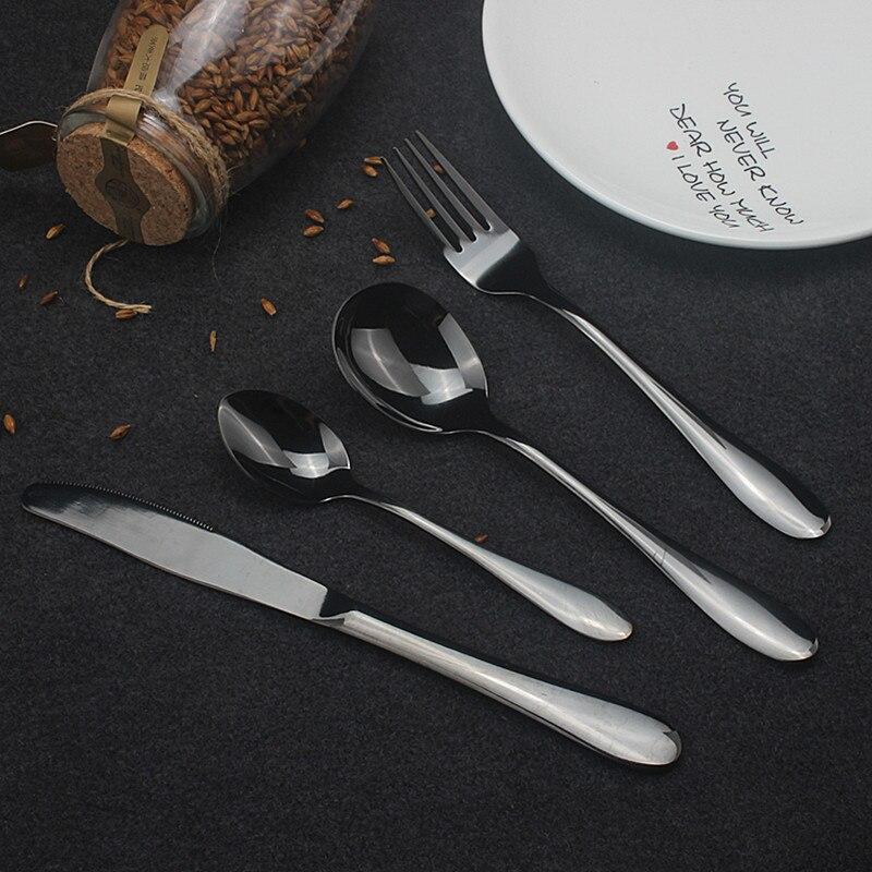 Hot Sale 4 Pcs/set European Dinnerware Knife 304 Stainless Steel Western Cutlery Kitchen Food Tableware Dinner Set Cutlery