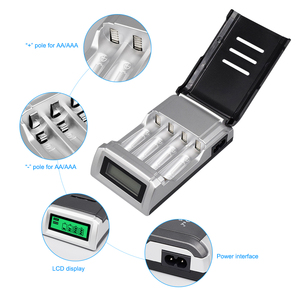 Image 3 - PALO 4 Slots Smart LCD Display Charger For AA/AAA NiMH NI CD Rechargeable Battery Intelligent AA AAA Battery Charger