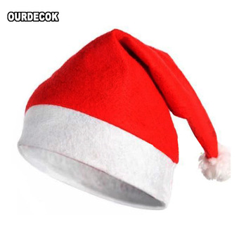 Klasyczny kapelusz świąteczny kapelusz świętego mikołaja dziecko dorosły ozdoby świąteczne materiały świąteczne akcesoria świętego mikołaja tanie i dobre opinie CN (pochodzenie) CHRISTMAS NONE SDM-cr Dla osób dorosłych Cloth Non woven fabric