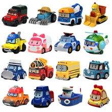 Купить 3 получить 5% Robocar Poli Фигурки детские игрушки Робот Поли Рой Хейли Аниме Металл Фигурку Игрушечный автомобиль для детей Подарок на день рождения