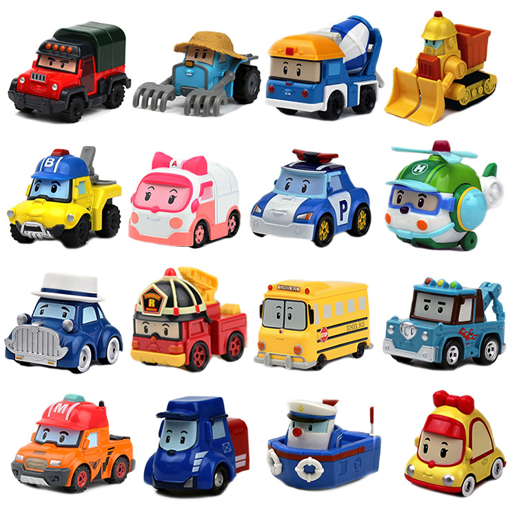 Buy 3 Get 5% Robocar Poli Action Figures Kids Toys Robot Poli Roy Haley Anime Metal Action Figure Toy Car For Kids Birthday Gift