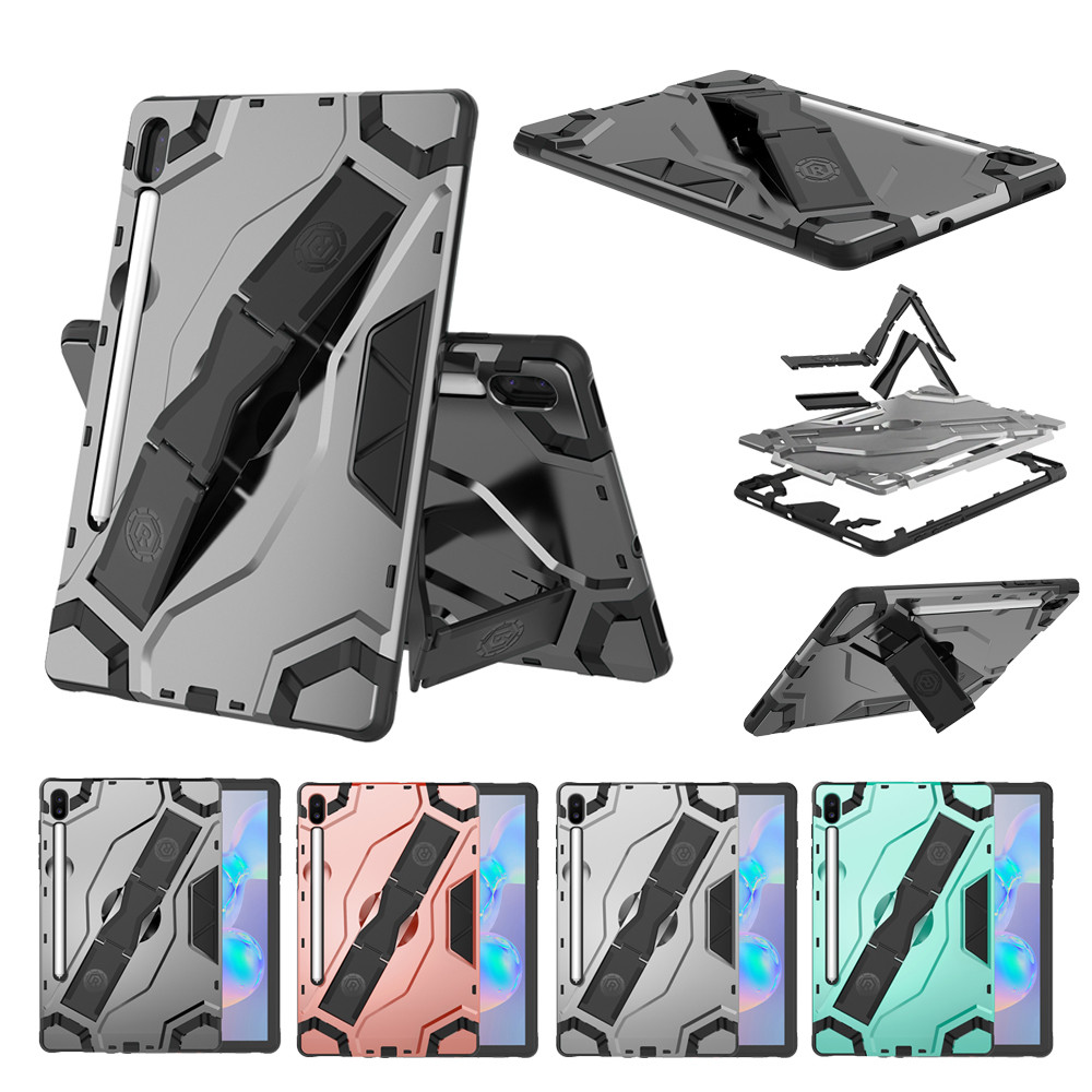 Shock-Proof Hard Rubber Stand Case Cover For Samsung Galaxy Tab S6 10.5 SM-T860 Shockproof Tablet Protective Cover Accessories