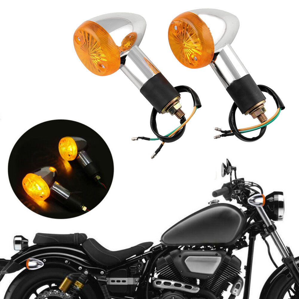 Motorcycle Turn Signal Light Indicators Blinkers 3000K Plastic 122x79.5mm