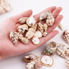 Charms Bracelet Necklace Sea-Shells-Pendant Jewelry-Making Natural-Shell DIY Tiny Conch