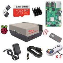 Raspberry pi 3b + (b plus) arcade kit completo 128gb cartão sd com 18000 + clássico jogos arcade retropie estação de emulação es ir remoto