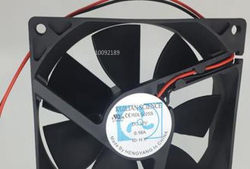 For Original 9025 DC12V 0.16A RDL9025S Ultra Quiet Cabinet Power Refrigerator Fan Free Shipping