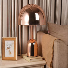 Post modern light luxury rose gold mushroom bedroom desk lamp Nordic simple fashion art living room decorative desk lamp(China)