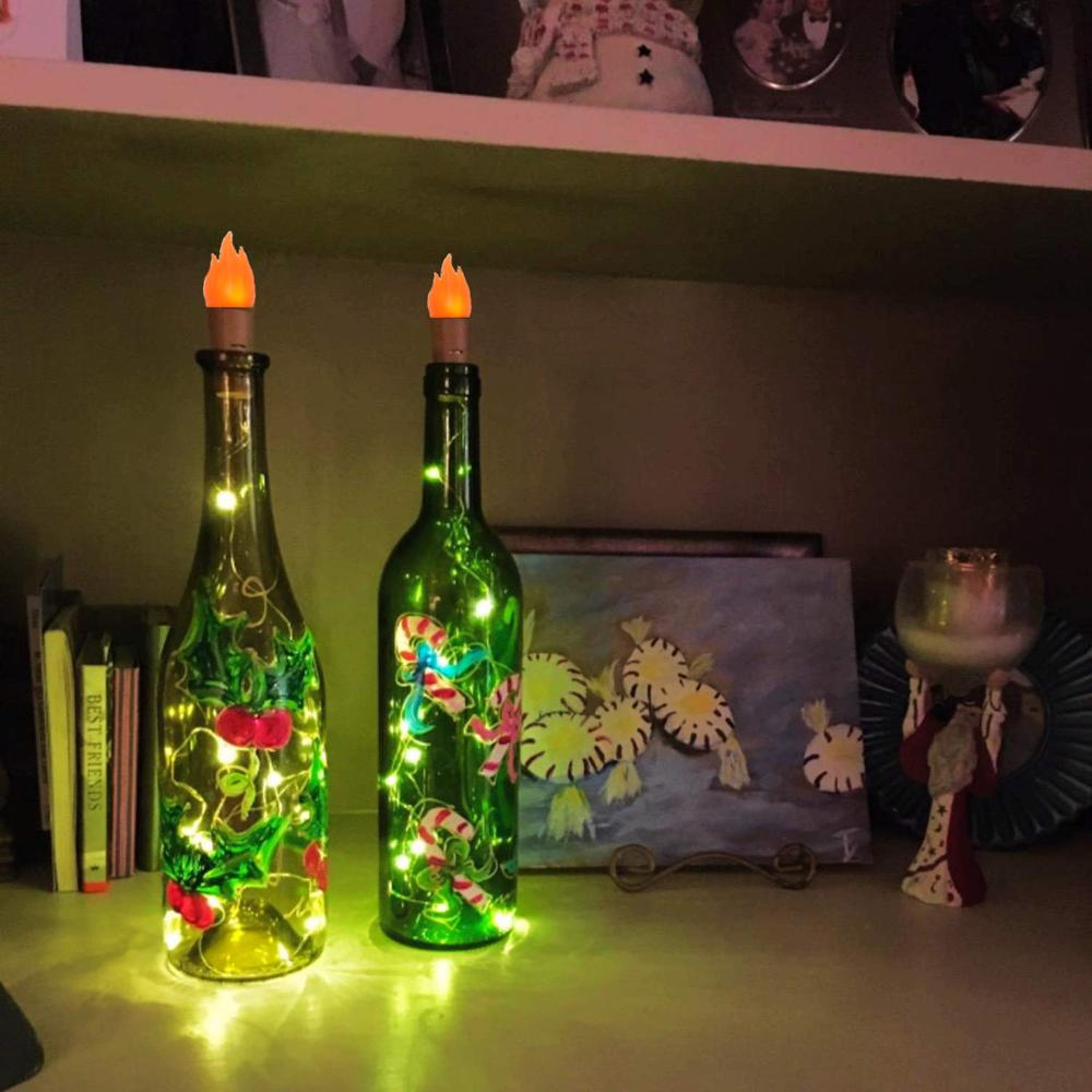 Torch Light Wine Bottle Lights  Battery Operated Fairy Lights For Parties,Wedding,Christmas DIY Indoor Outdoor Decoration