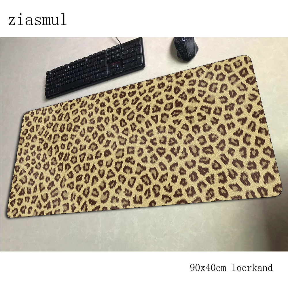 cheetah print <font><b>padmouse</b></font> <font><b>900x400x3mm</b></font> gaming mousepad game Domineering mouse pad gamer computer Beautiful mat notbook mousemat pc image