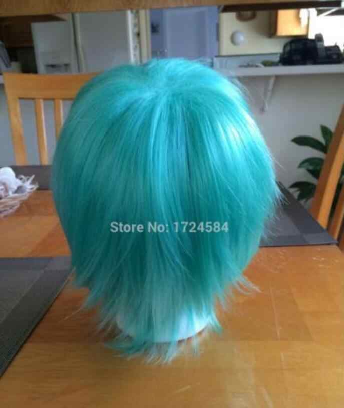 SHUN Kurz blau teal cosplay perücke