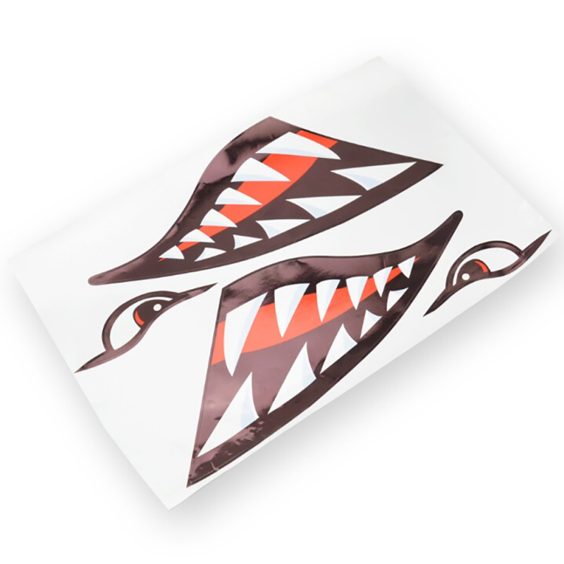Car Stickers 3D Shark Teeth Mouth Funny Decal Car-covers Kayak Canoe Dinghy Boat Waterproof Stickers Decoration Dropship