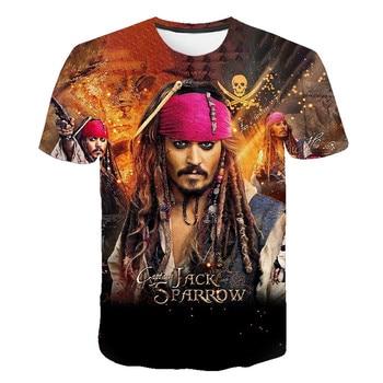 Newest Funny T Shirt Men T-shirt Movie Pirates Caribbean Jack Sparrow Tshirt 3D Print Tee Unisex Casual Tshirts Camisetas 6XL