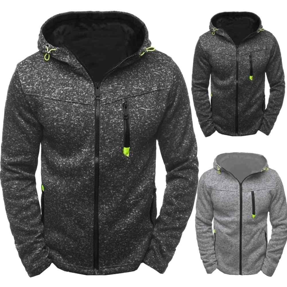 스포츠 가을 남성 자켓 코트 겨울 따뜻한 짙은 자켓 남성 지퍼 스웨터 후드 자켓 코트 남성 의류