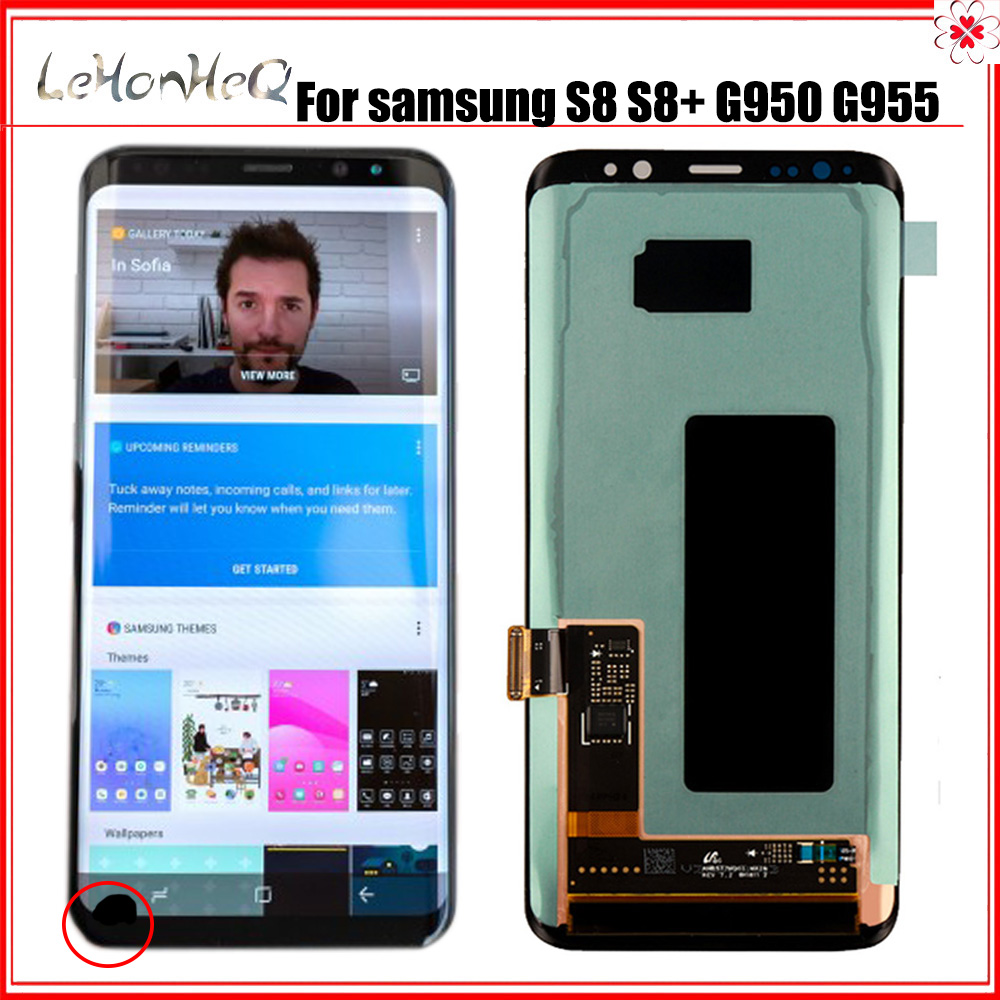 Original LCD For <font><b>Samsung</b></font> Galaxy <font><b>S8</b></font> Lcd <font><b>Display</b></font> <font><b>S8</b></font> plus G950 G950F G955fd G955F G955 With Dead pixel With Touch Screen Digitizer image
