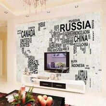 Milofi custom 3D large mural wallpaper digital map stone wall TV background decorative painting