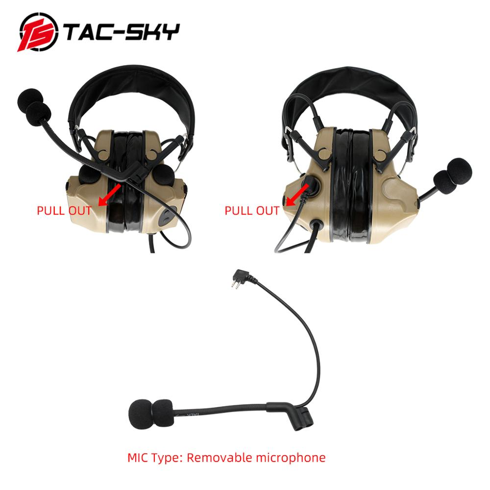 Купить с кэшбэком TAC-SKY COMTAC II silicone earmuffs version outdoor hunting sports hearing defense noise reduction pickup tactical headset DE