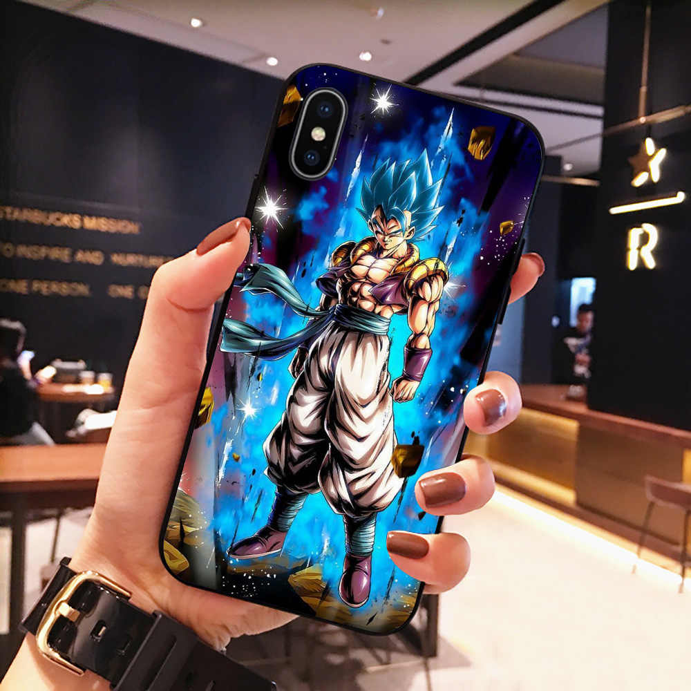 Webbedepp dragon ball z super dbz goku silicone macio caso para iphone 12 mini 11 pro xs max xr x 8 7 6s 5 5S mais