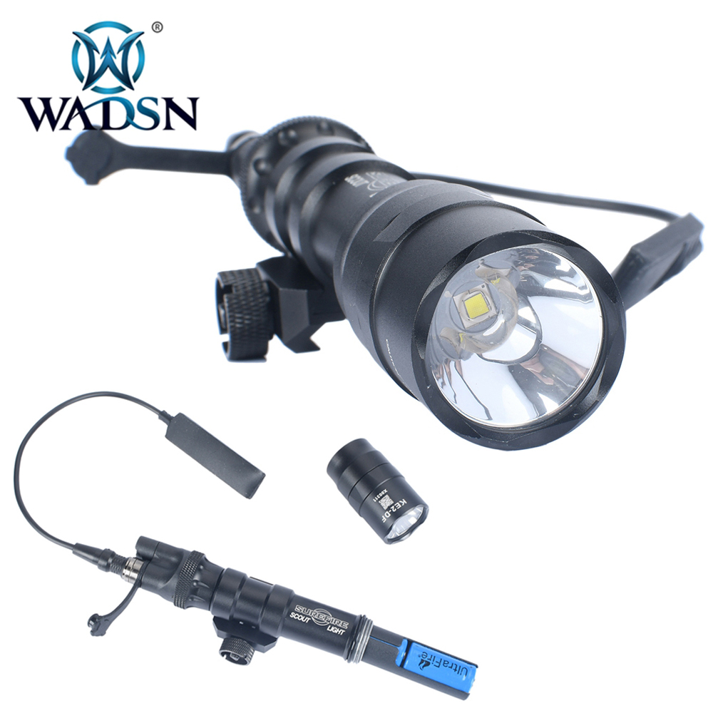 WADSN Tactical Flashlight M600DF with SL07 Scout Dual Switch Airsoft Torches 1400 Lumen Pistol Lamp WD04019 Softair Weapon Light