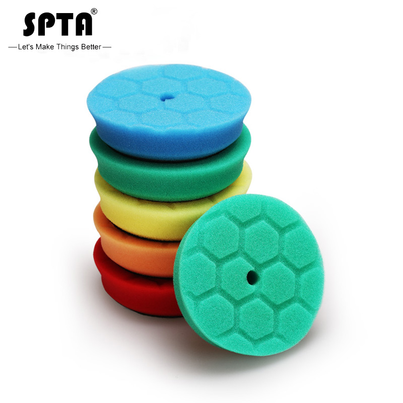 (Bulk Sales 1) SPTA 3.5Inch (90mm) Hex-Logic Cut Polishing Pads & Buffing Pads For 3Inch(80mm) RO/DA/GA Dual Action Car Polisher