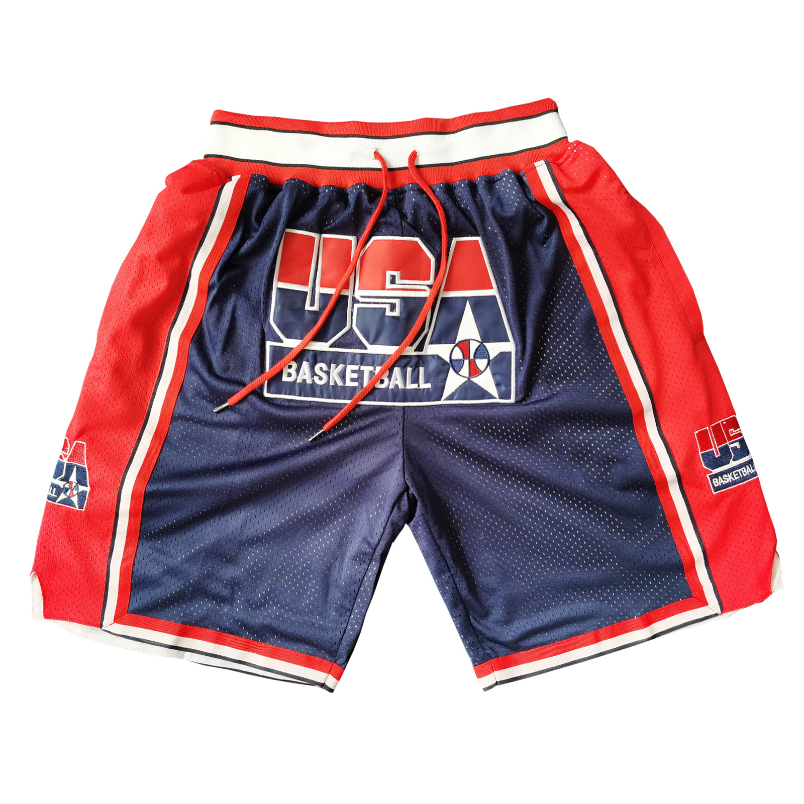 1992 <font><b>USA</b></font> Dream Team Basketball Shorts with Pockets image