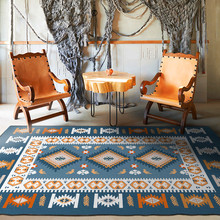 European-Style Rug Morocco Ethnic-Style Multi-Color Geometric Carpet Living Room Bedroom Bed Blanket Kitchen Bathroom Floor Mat
